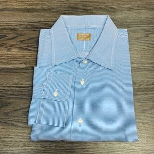 Gitman Bros Blue & White Stripe Shirt 18.5 37/38